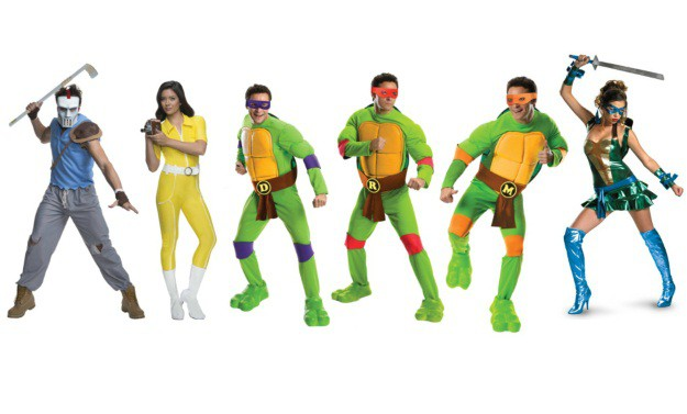Teenaged Mutant Ninja Turtles Group Costume