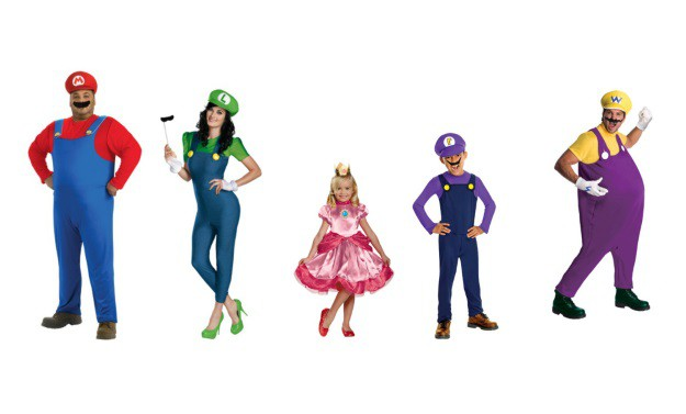 Super Mario Brothers Group Costume