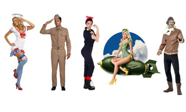 Pinups and Soldiers Group Costume