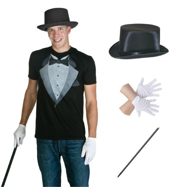 Quick and easy tuxedo costume