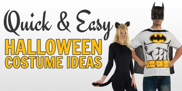 10 Quick and Easy Halloween Costume Ideas  Halloween - Simple Halloween Costumes