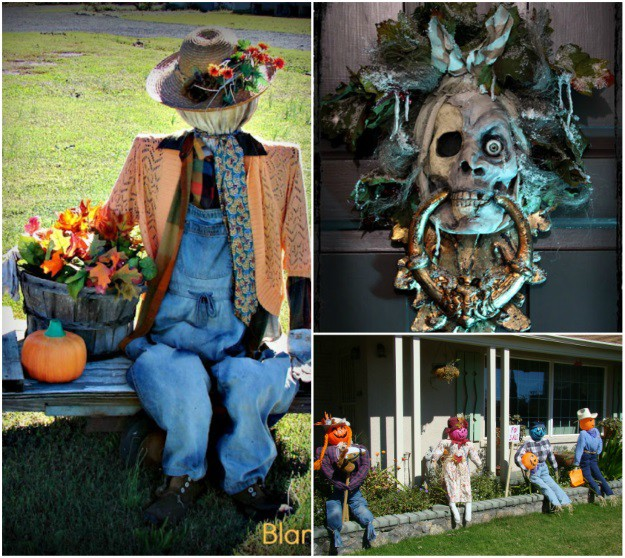 Recycled Halloween Decor Ideas