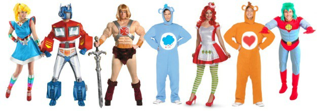Nostalgic Halloween Costumes 80s TV Cartoons