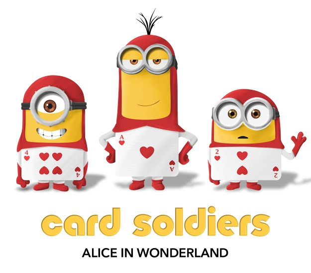 Minions as Cards from Alice in Wonderland