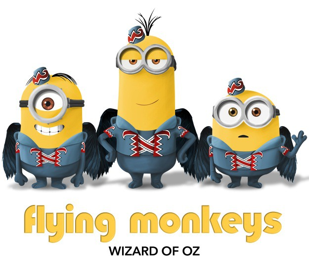 Minions as Flying Monkeys from The Wizard of Oz