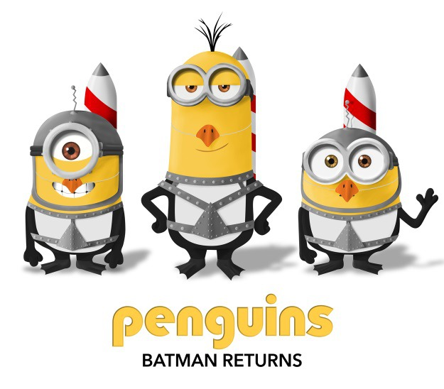 Minions as Penguins from Batman Returns