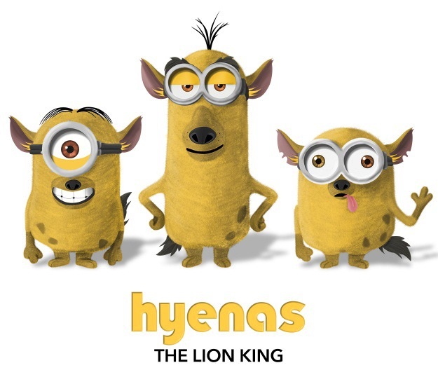 Minions as Hyenas from Lion King
