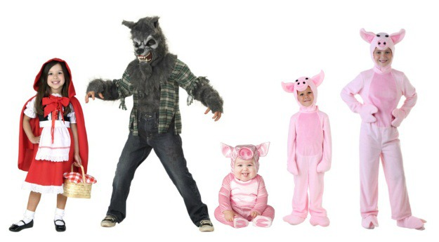 Creative Group Halloween Costumes For Kids Halloween  sc 1 st  Meningrey : the big bad wolf costume  - Germanpascual.Com