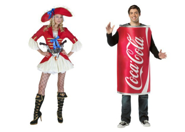 Captain Coke Couple Costume