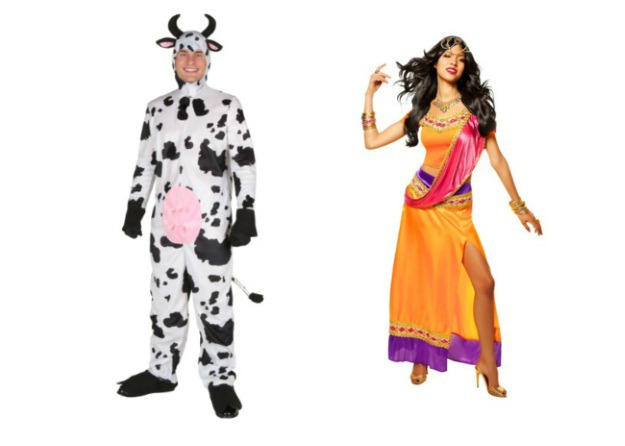 Coyboy and Indian Couple Costume