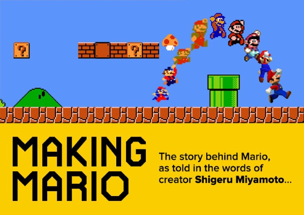 The evolution of mario - an infographic