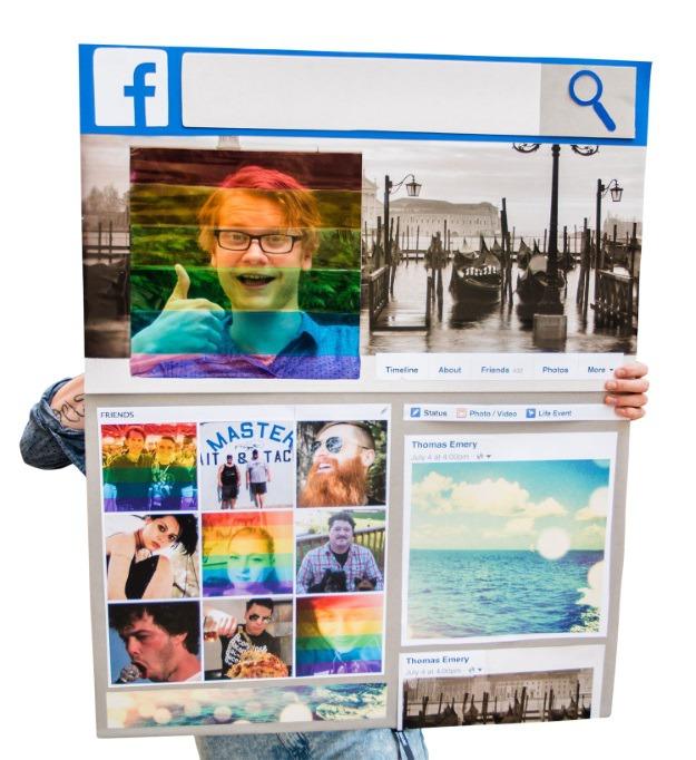 DIY Celebrate Pride Facebook Filter Costume