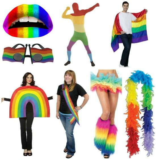 Gay pride costumes and accessories