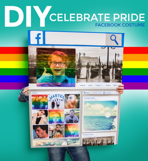 DIY Facebook Pride Filter Costume