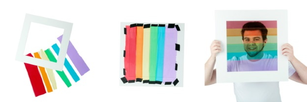How to make a Facebook pride rainbow filter costume