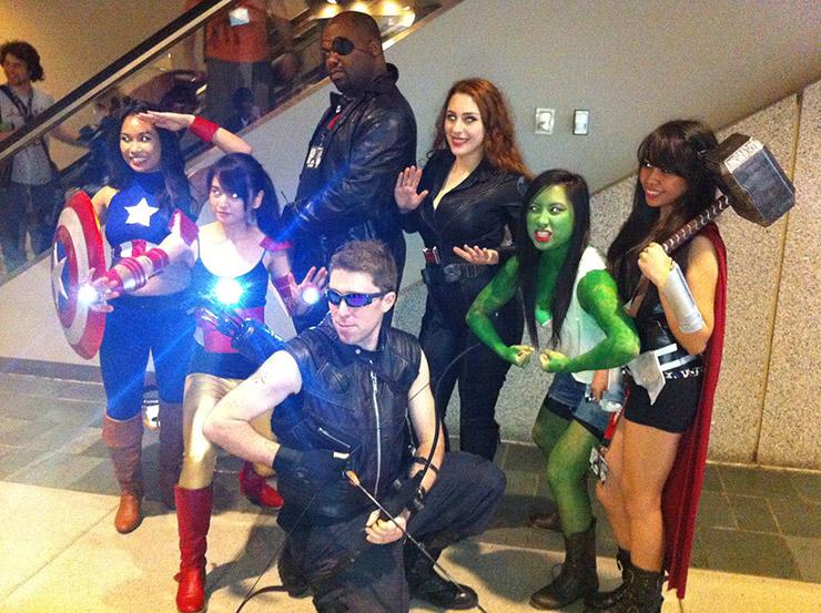 Gender Bender Avengers Group Costume