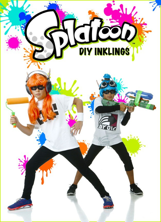 DIY Splatoon Inklings Costumes