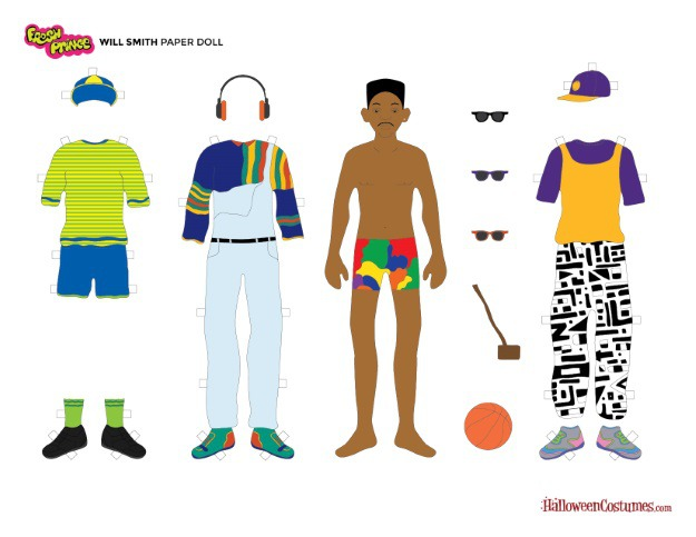 Will Smith Paper Doll
