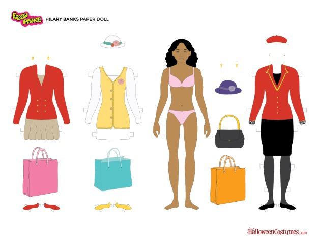Hilary Banks Paper Doll