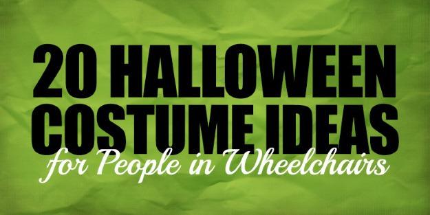 Wheelchair Costumes Header