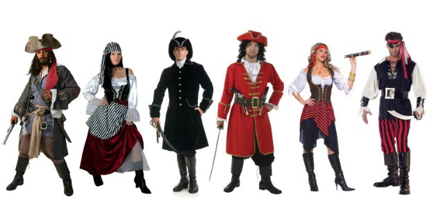Pirate Costumes for Groups