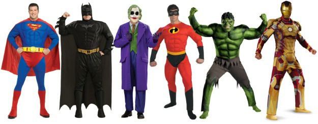 big and tall superhero costumes