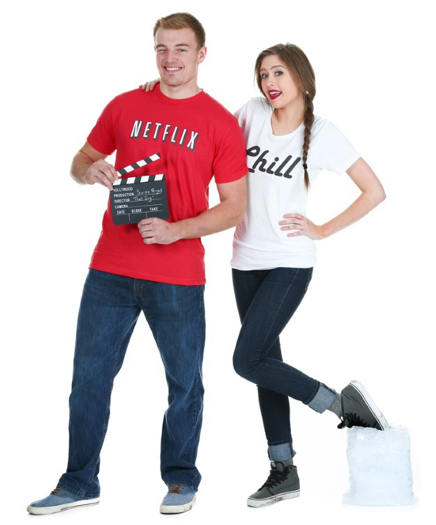 Funny Netflix and Chill Halloween Costume
