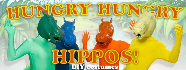 Hungry Hungry Hippos DIY Costumes