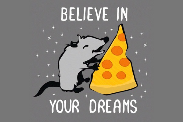 Believe in your dreams Pizza Rat