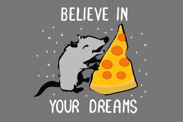 Believe in your dreams Pizza Rat