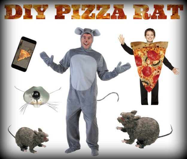 Products Used for a Pizza Rat Halloween Costume