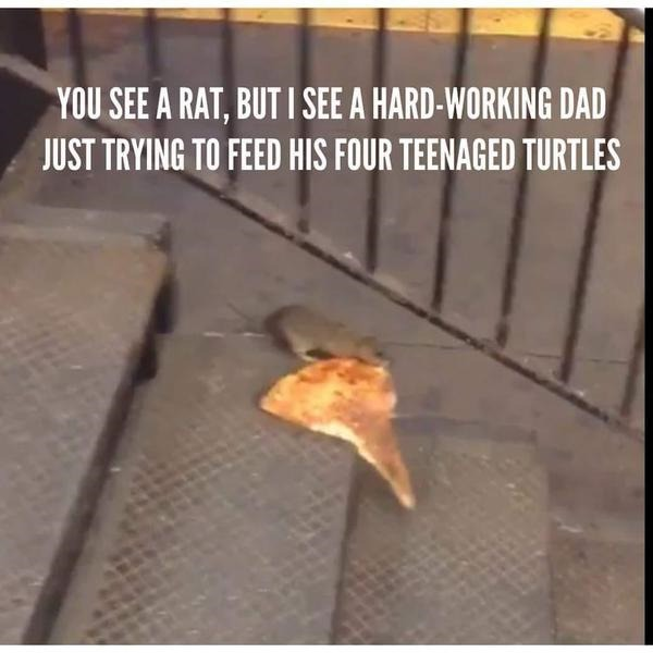 Pizza Rat is Splinter