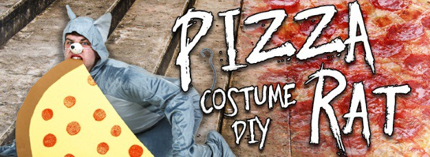 DIY Pizza Rat Halloween Costume