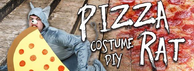 DIY Pizza Rat Halloween Costume