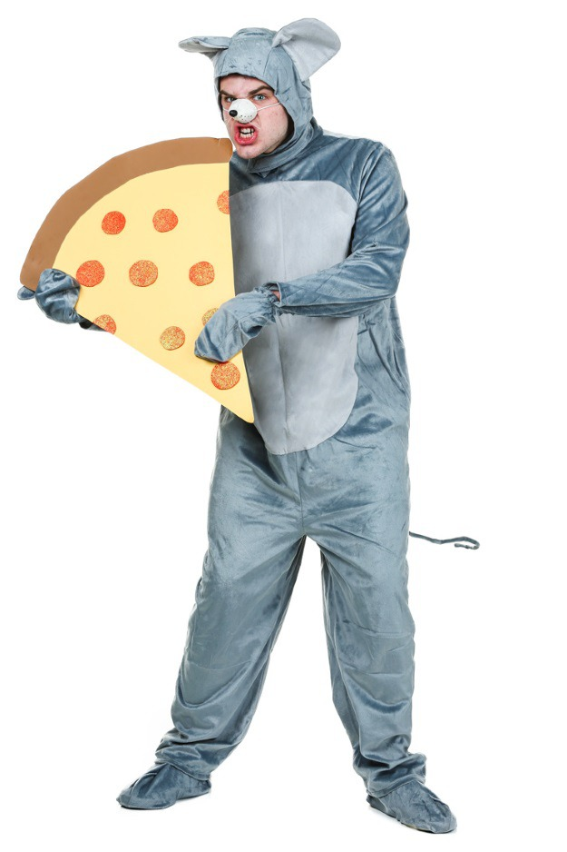 How to make a DIY Pizza Rat costume