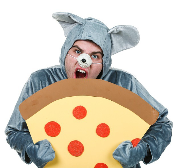 Funny Pizza Rat Halloween Costume