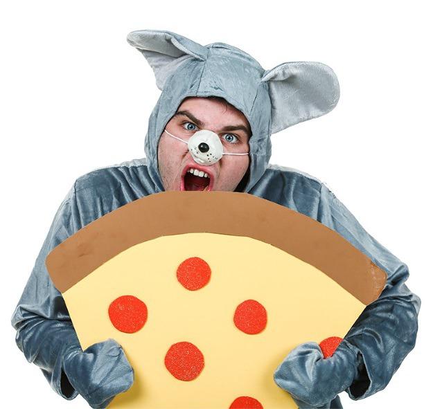 Funny Pizza Rat Halloween Costume