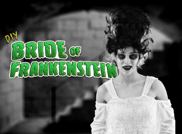 diy bride of frankenstein costume and makeup halloween costumes blog