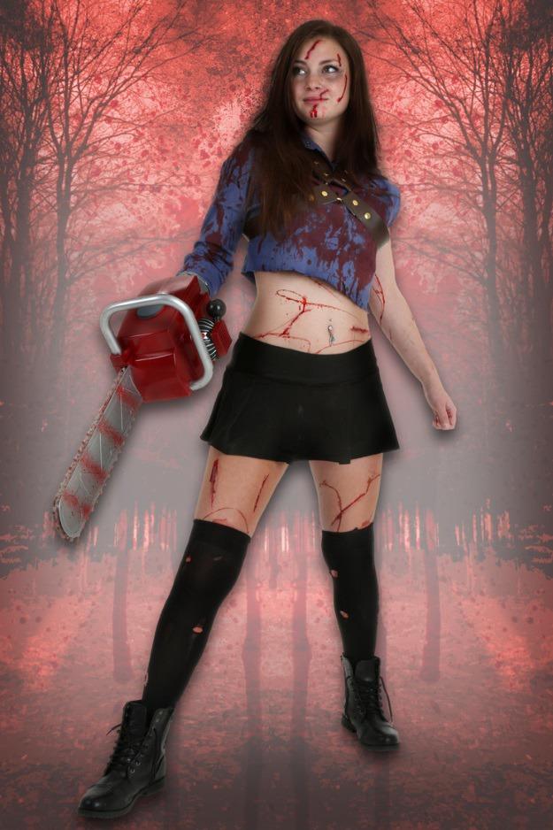 Female Ash Evil Dead Costume