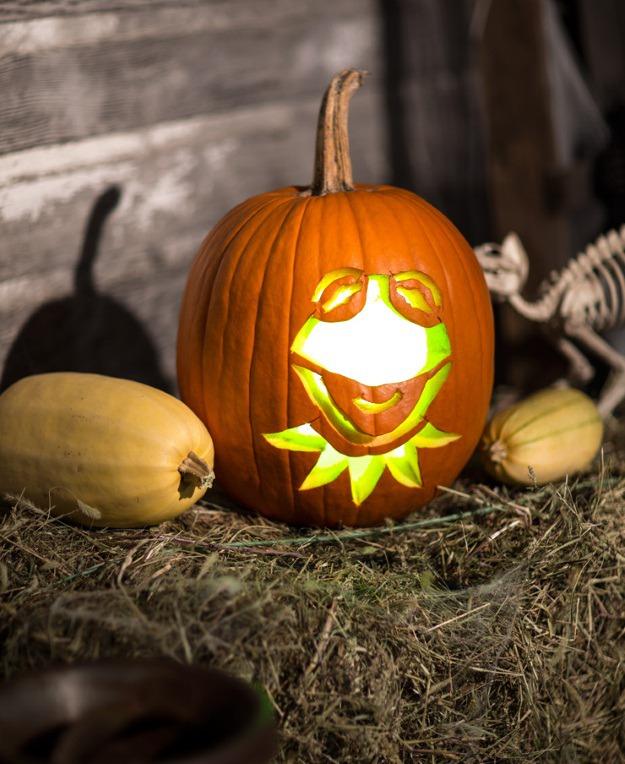 Kermit pumpkin