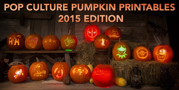 Printable Pop Culture Pumpkin Carving Stencils 2015