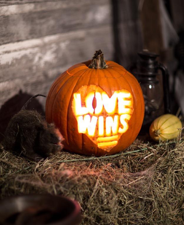 Love wins pumpkin