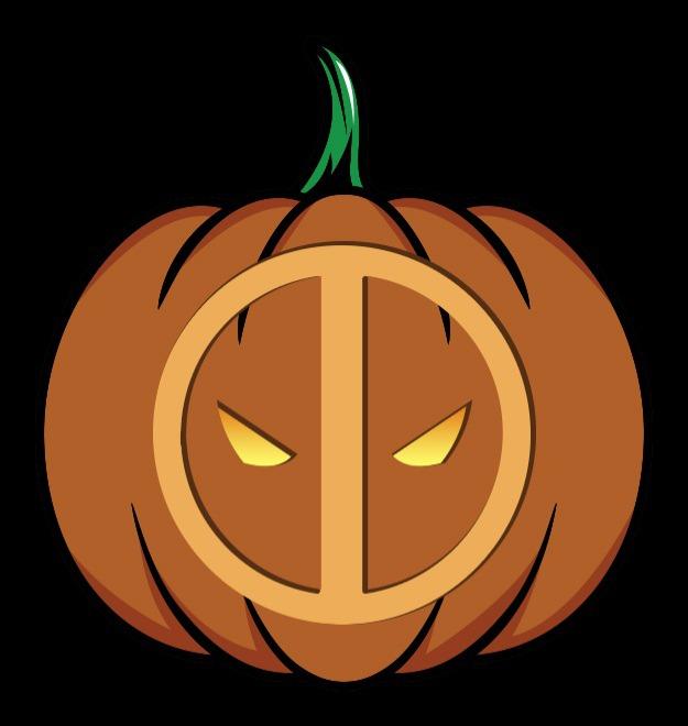 deadpool pumpkin stencil