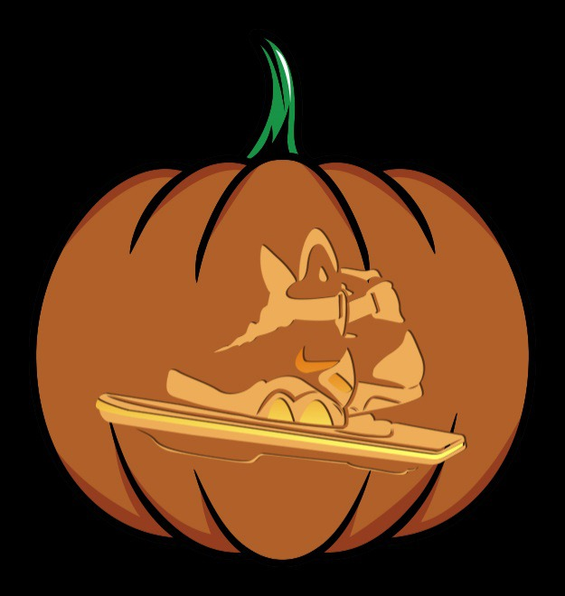 bttf shoes pumpkin stencil