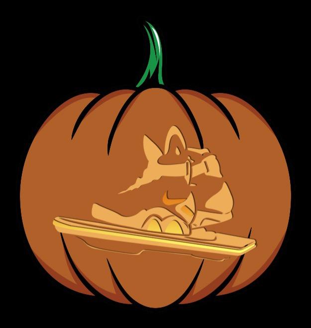 bttf shoes pumpkin stencil
