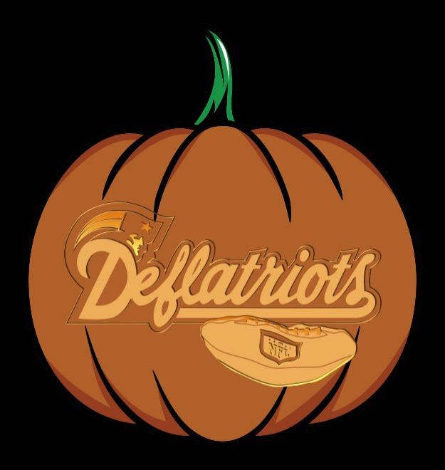 deflatriots pumpkin stencil
