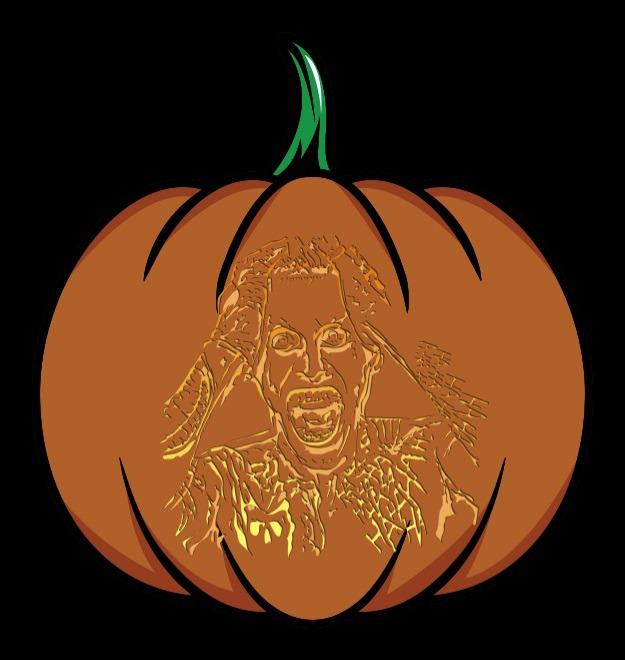 suicide squad joker pumpkin stencil