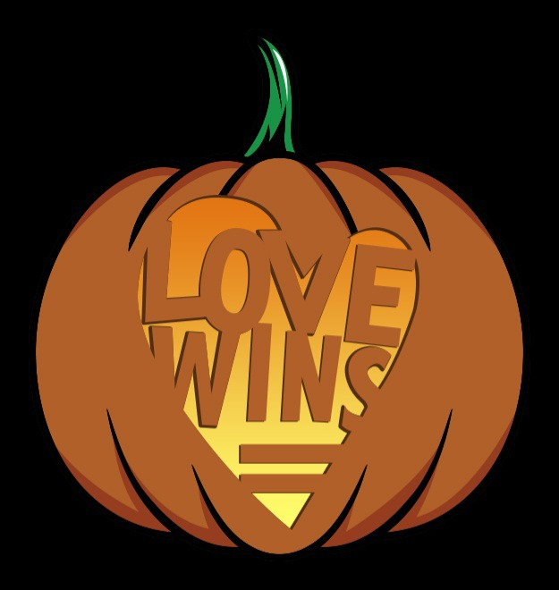 love wins pumpkin stencil