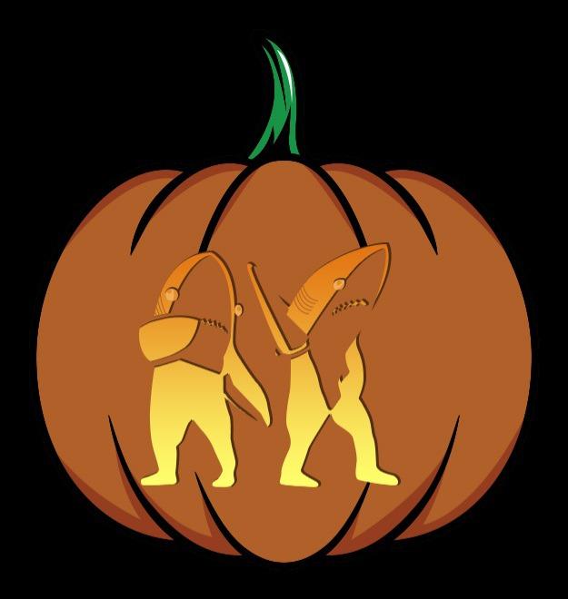 left-shark pumpkin stencil