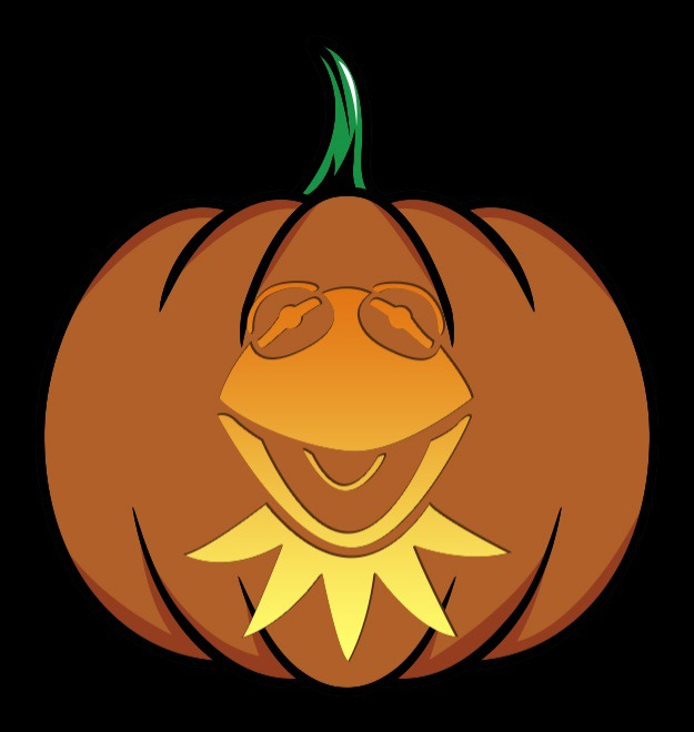 kermit pumpkin stencil